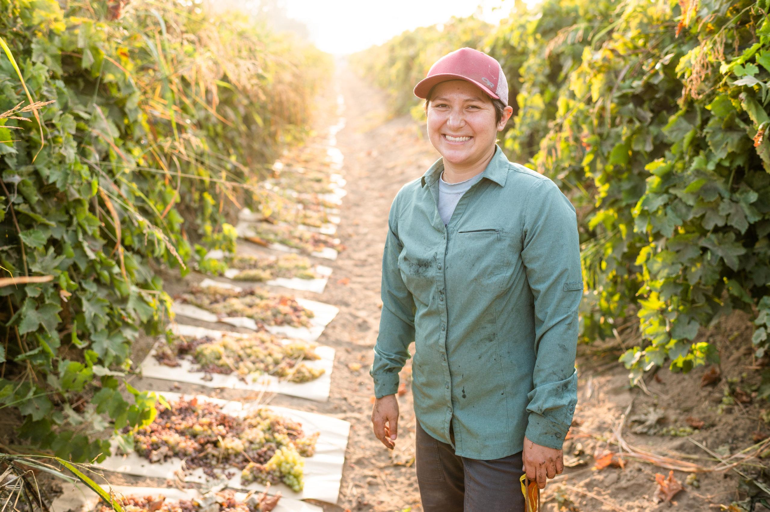 Portrait of Nikiko Masumoto in the grape orchards